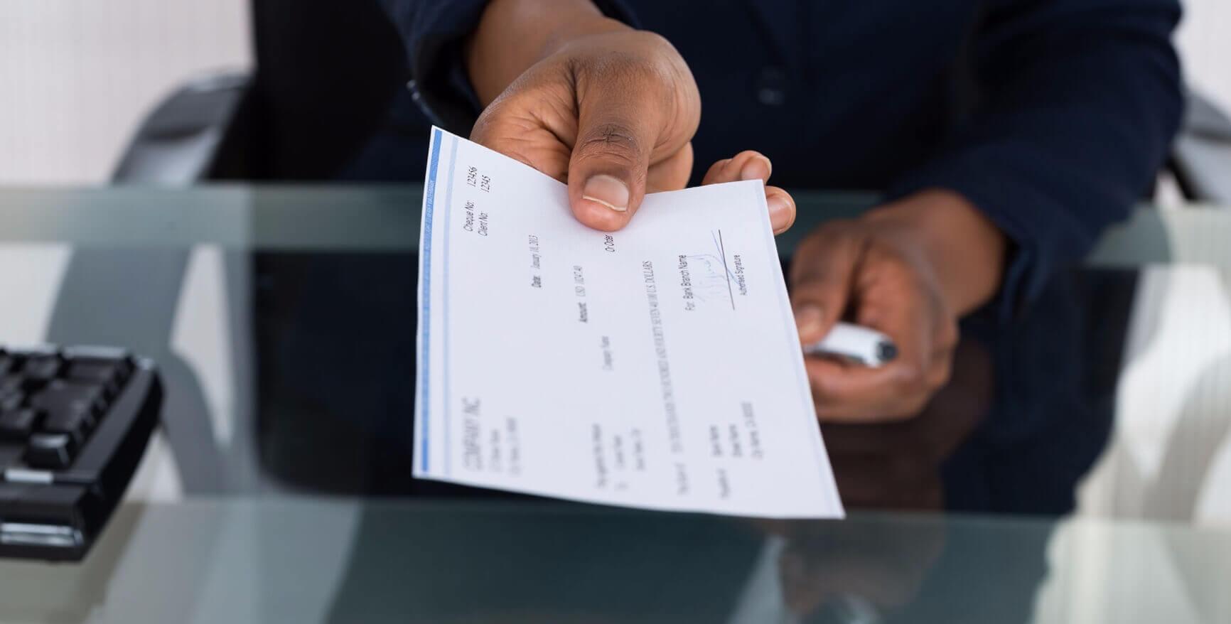 ¿Acepto el cheque? Featured Image
